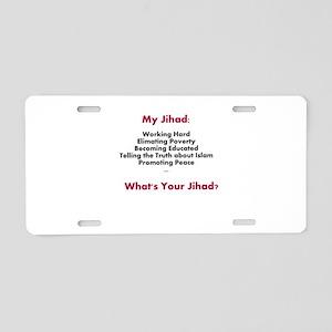 My Jihad Aluminum License Plate