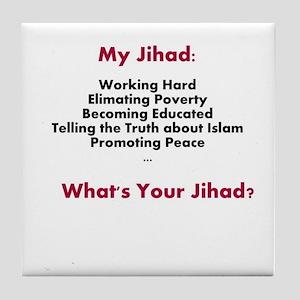 My Jihad Tile Coaster