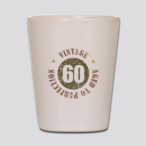 60th Vintage birthday Shot Glass