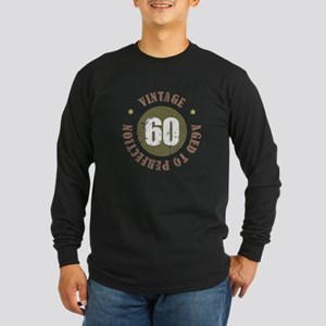 60th Vintage birthday Long Sleeve Dark T-Shirt