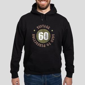 60th Vintage birthday Hoodie (dark)