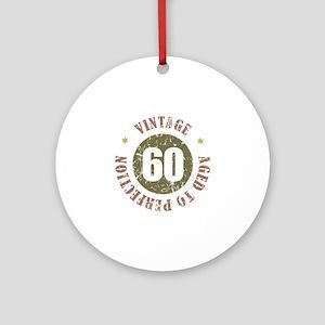 60th Vintage birthday Ornament (Round)