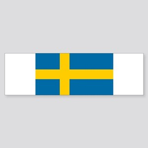 Sweden - National Flag - Current Sticker (Bumper)