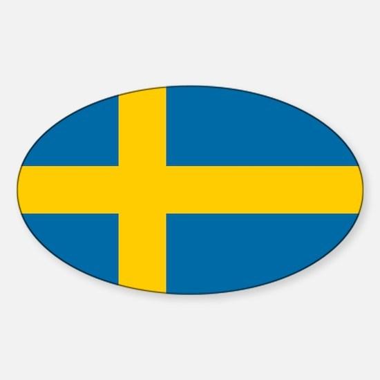 Sweden - National Flag - Current Sticker (Oval)