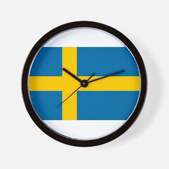 Sweden - National Flag - Current Wall Clock