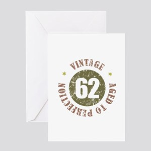 Funny 62nd birthday greeting cards cafepress 62nd vintage birthday greeting card m4hsunfo