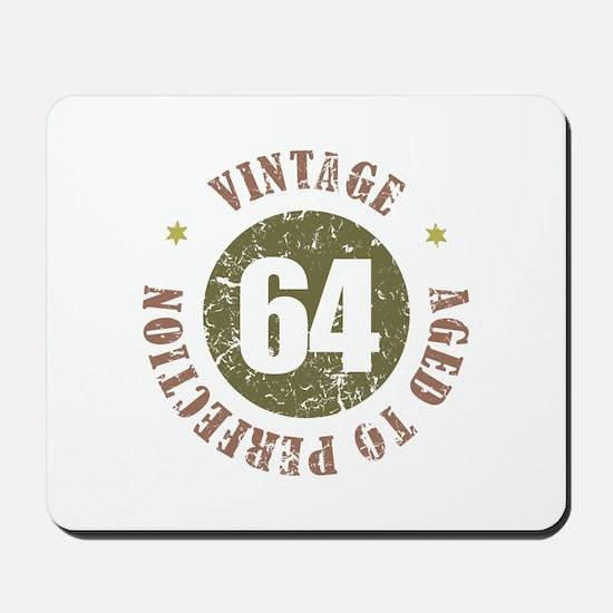 64th Vintage birthday Mousepad