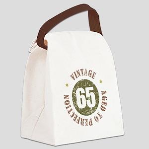 65th Vintage birthday Canvas Lunch Bag