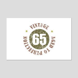 65th Vintage birthday Mini Poster Print