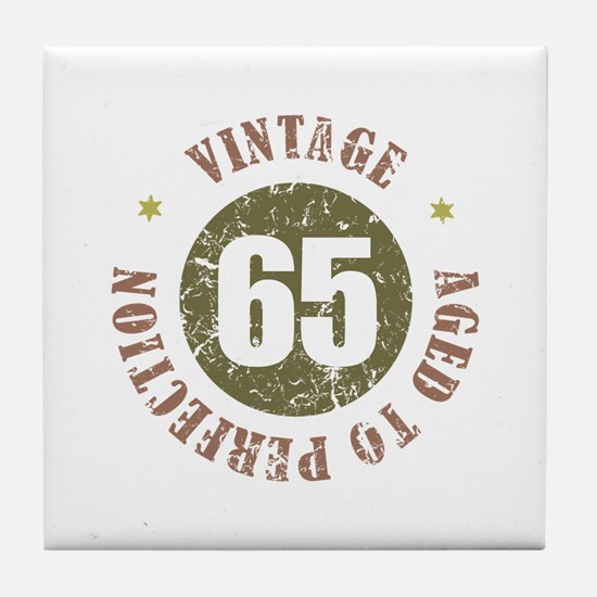 65th Vintage birthday Tile Coaster