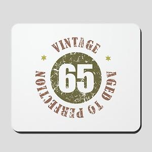 65th Vintage birthday Mousepad