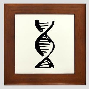 DNA Double Helix Symbol Framed Tile