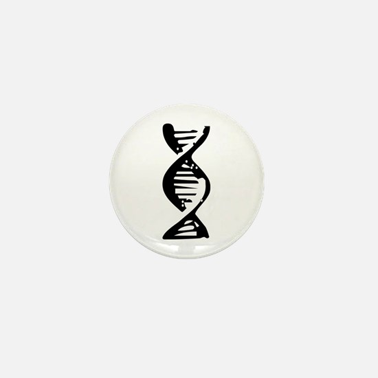 DNA Double Helix Symbol Mini Button