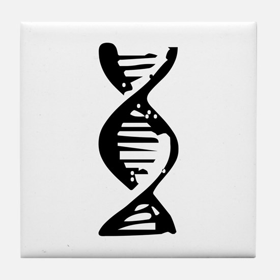 DNA Double Helix Symbol Tile Coaster