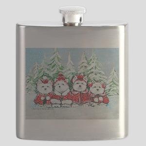 Westie Christmas Flask