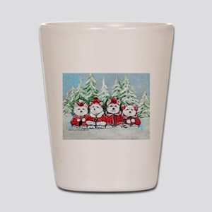 Westie Christmas Shot Glass