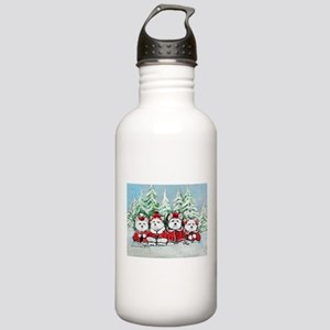 Westie Christmas Stainless Water Bottle 1.0L