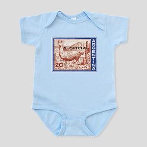 1961 Argentina Llama Postage Stamp Infant Bodysuit