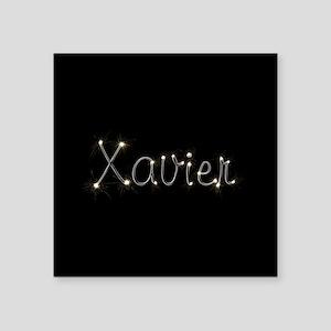 "Xavier Spark Square Sticker 3"" x 3"""