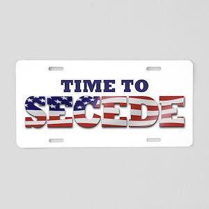 Secede Flag Aluminum License Plate