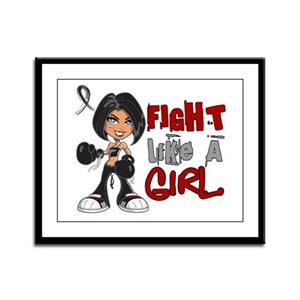 Licensed Fight Like a Girl 42.8 Framed Panel Print