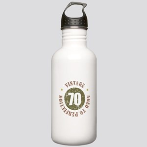 70th Vintage birthday Stainless Water Bottle 1.0L