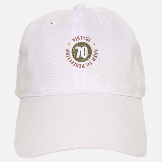 70th Vintage birthday Cap