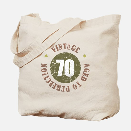 70th Vintage birthday Tote Bag