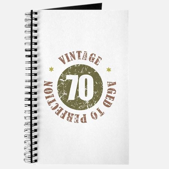 70th Vintage birthday Journal