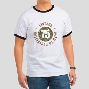 75th Vintage birthday Ringer T