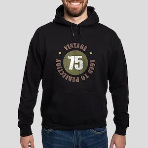 75th Vintage birthday Hoodie (dark)