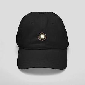 75th Vintage birthday Black Cap