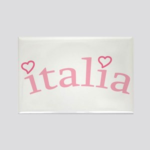 """""""Italia with Hearts"""" Rectangle Magnet"""