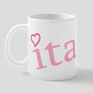 """Italia with Hearts"" Mug"