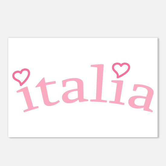 """Italia with Hearts"" Postcards (Package of 8)"