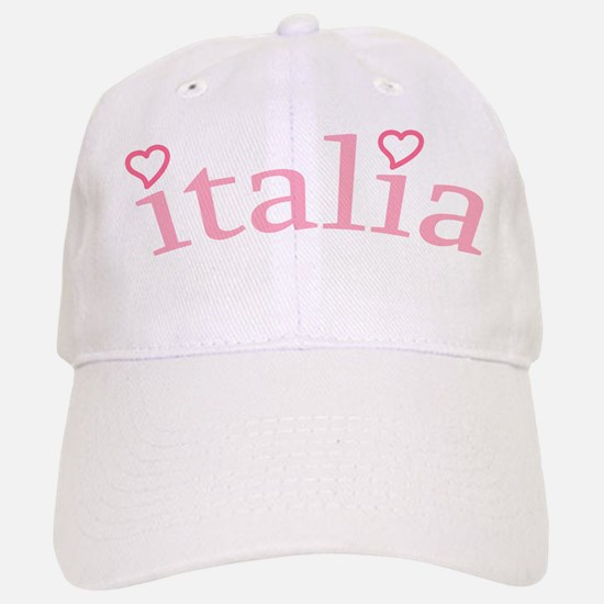 """Italia with Hearts"" Baseball Baseball Cap"