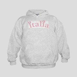 """Italia with Hearts"" Kids Hoodie"