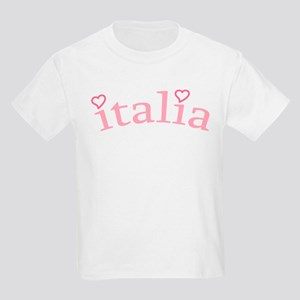 """Italia with Hearts"" Kids Light T-Shirt"