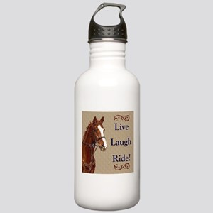 Live! Laugh! Ride! Horse Stainless Water Bottle 1.