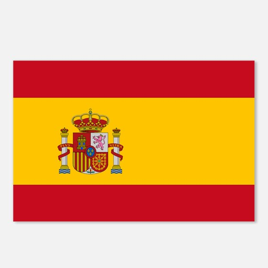 Spain - National Flag - Current Postcards (Package