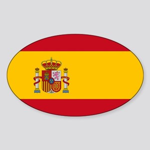 Spain - National Flag - Current Sticker (Oval)