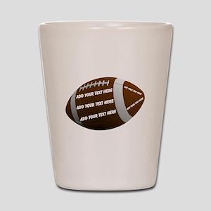 Personalizable Football Shot Glass