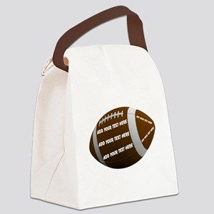 Football Canvas Lunch Bag