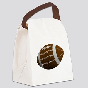 Personalizable Football Canvas Lunch Bag