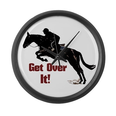 Get Over It! Horse Jumper Large Wall Clock
