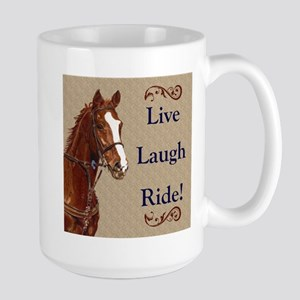 Live! Laugh! Ride! Horse Large Mug