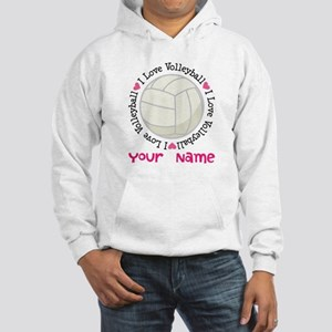 Personalized Volleyball Hooded Sweatshirt