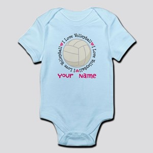 Personalized Volleyball Infant Bodysuit