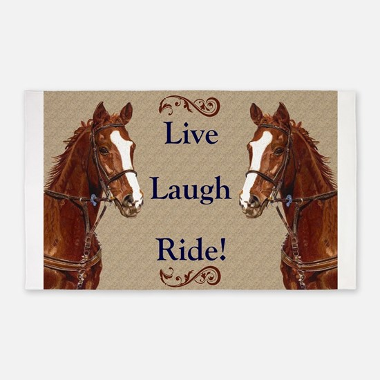 Live! Laugh! Ride! Horse 3'x5' Area Rug