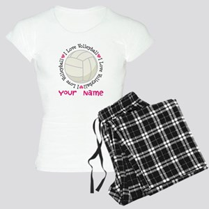 Personalized Volleyball Women's Light Pajamas
